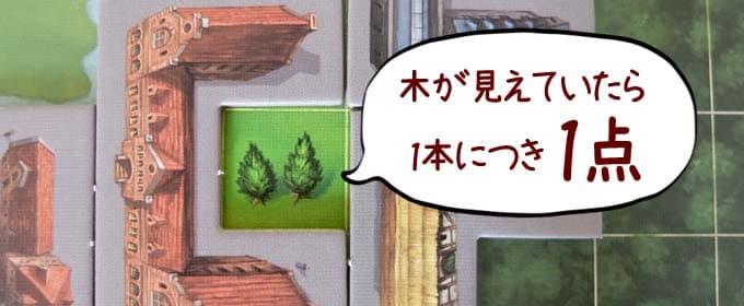 木は1本につき1点|マイシティ(My City)ボードゲーム