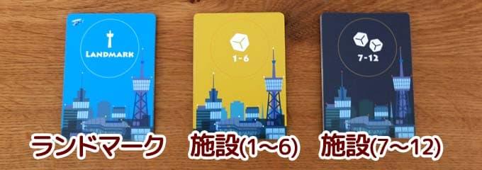 3種類のカード|街コロ通(ツー)