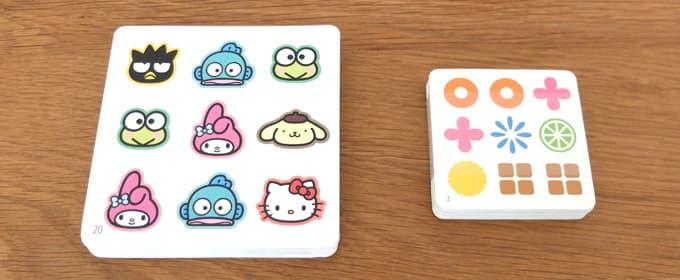 お題カードの比較|ナインタイル サンリオキャラクターズ