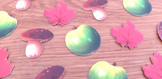 キノコ・リンゴ・木の葉 スピーディロール