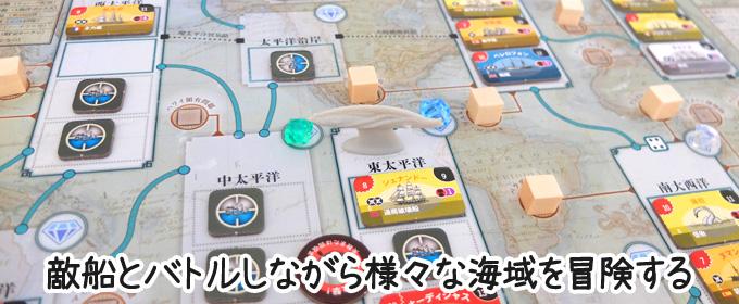 様々な海域を冒険する1人用ボードゲーム|ネモの戦い